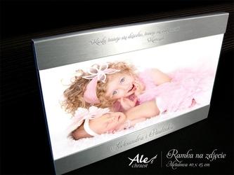 Ramka na zdjęcie chrzest roczek urodzinki grawer