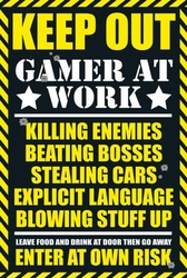 Gaming Keep Out - plakat