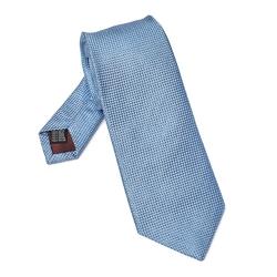 Elegancki błękitny krawat jedwabny Van Thorn o prostym splocie