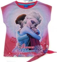 Koszulka frozen forever sisters różowa 5 lat