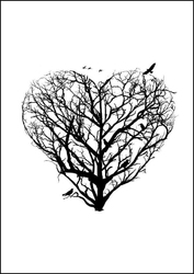 Serce - plakat wymiar do wyboru: 40x50 cm