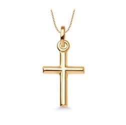 Staviori krzyżyk. żółte złoto 0,585. długość 21 mm.