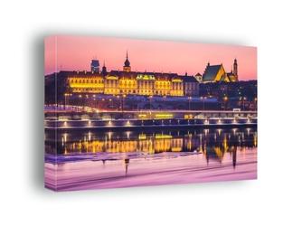 Warszawa zamek królewski bajkowy zamek - obraz na płótnie wymiar do wyboru: 90x60 cm