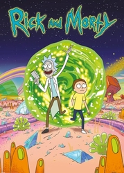Rick and morty portal - plakat z serialu