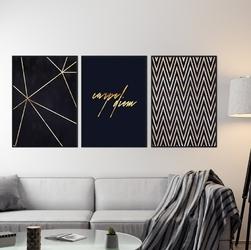 Zestaw trzech plakatów - carpe diem design , wymiary - 30cm x 40cm 3 sztuki, kolor ramki - biały