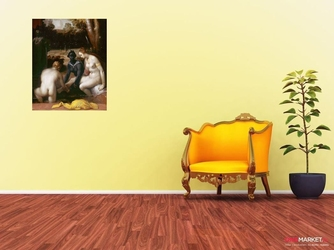 batszeba w kąpieli - cornelis van haarlem ; obraz - reprodukcja