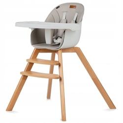 Kidwell nobis 2w1 beige drewniane krzesełko do karmienia i fotelik