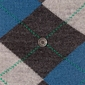 Stylowe skarpety burlington edinburgh ciemnoszaro-niebieskie we wzór argyle rozmiar 40-46