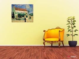 biały dom w nocy - vincent van gogh ; obraz - reprodukcja