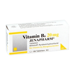 Vitamin b 6 20 mg jenapharm tabl.