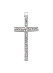 Zawieszka magnetyczna krzyż 3138-1 z kryształkami swarovskiego