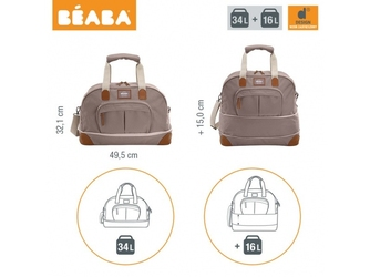 Torba dla mamy amsterdam smart colors taupe