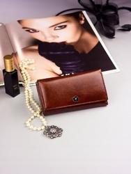 Pojemny portfel damski brązowy px23-2 - brązowy