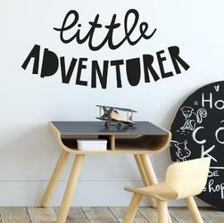 Naklejka na ścianę - little adventurer , wymiary naklejki - szer. 160cm x wys. 80cm
