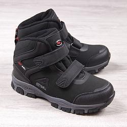 Buty trekkingowe wodoodporne czarne american club - czarny