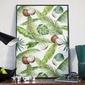 Plakat w ramie - coconut art , wymiary - 70cm x 100cm, ramka - czarna
