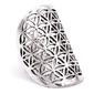 Kwiat życia - pierścień mosiądz - kolor srebrny