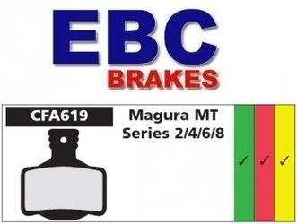 Klocki hamulcowe rowerowe ebc organiczne magura mt series 2, 4, 6, 8
