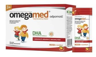 Omegamed odporność 3+ x 30 pastylek żelowych do żucia