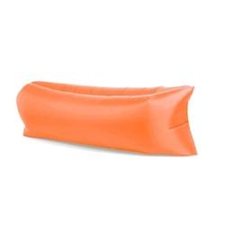 Lazy bag xxl pomarańczowy air sofa materac leżak na powietrze