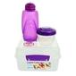 Lunchbox kostka max 2l i butelka 385 ml, fioletowy, sistema
