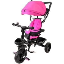 Junioria baby star czarno-różowy rowerek trójkołowy obracany