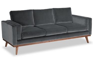 Sofa nenuphar 3-osobowa welurowa deluxe - welur łatwozmywalny siena