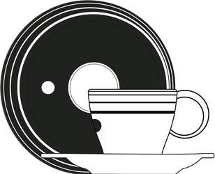 Filiżanka do herbaty z podstawką Optical Bugatti