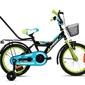 Rower dziecięcy limber 16 boy czarno-zielono-niebieski 2019