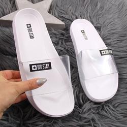 Klapki damskie plażowe gumowe białe big star dd274a258 - biały