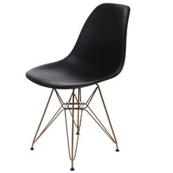 Krzesło p016 pp gold czarne - czarny