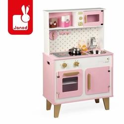 Duża kuchnia drewniana z dźwiękiem i 6 akcesoriami Candy Chic, Janod