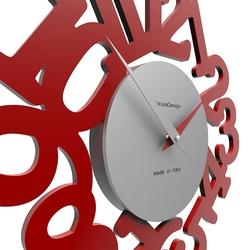 Zegar ścienny mat calleadesign oliwkowo-zielony 10-009-54