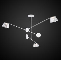 Biała lampa wisząca z akrylowymi kloszami simplicity 3