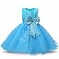 Turkusowa tiulowa sukienka dla dziewczynki z różami
