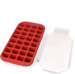 Foremka do kostek lodu z tacką lekue czerwona 0620100r01c050