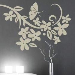 kwiaty motyl 901 szablon malarski