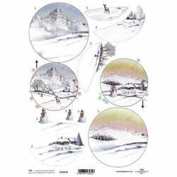 Przekładka do bombki akrylowej - góry zimą 3D - góry