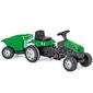 Traktor z przyczepą woopie maxi zielony