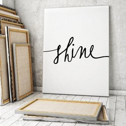 Shine - minimalistyczny obraz na płótnie , wymiary - 100cm x 200cm