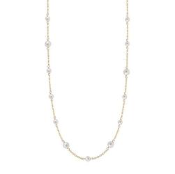 Staviori naszyjnik 45cm. naturalne perły hodowlane słodkowodne. żółte złoto 0,585.  długość regulowana 43cm lub 45cm.