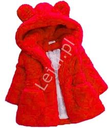 Czerwona kurteczka dla dziewczynki futerko z kapturem 354