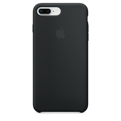 Apple iPhone 8 Plus  7 Plus Silicone Case - Black