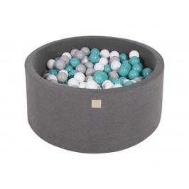 Suchy basen dla dziecka 90x40 cm + 200 piłek - ciemnoszary