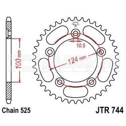 Zębatka tylna stalowa jt r744-38, 38z, rozmiar 525 2302358 ducati 999
