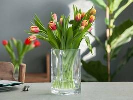 Wazon szklany na kwiaty edwanex kwadratowy 20 cm