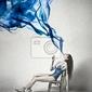 Plakat blue smoke