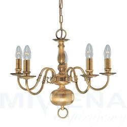 Flemish lampa wisząca 5 patyna