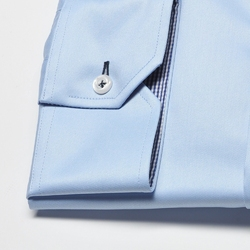 Elegancka niebieska koszula męska van thorn slim fit  z klasycznym kołnierzykiem 45