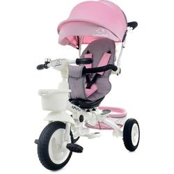 Junioria bonbon różowy rowerek trójkołowy 4w1 obracany + prezent 3d